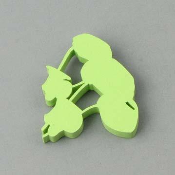 Coil Brooch - Apple Green